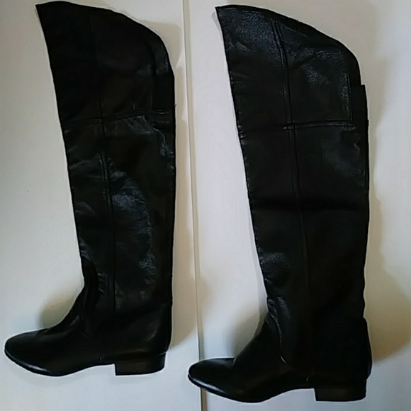 Chinese Laundry Shoes - Chinese Laundry black over the knee boots-sz 7